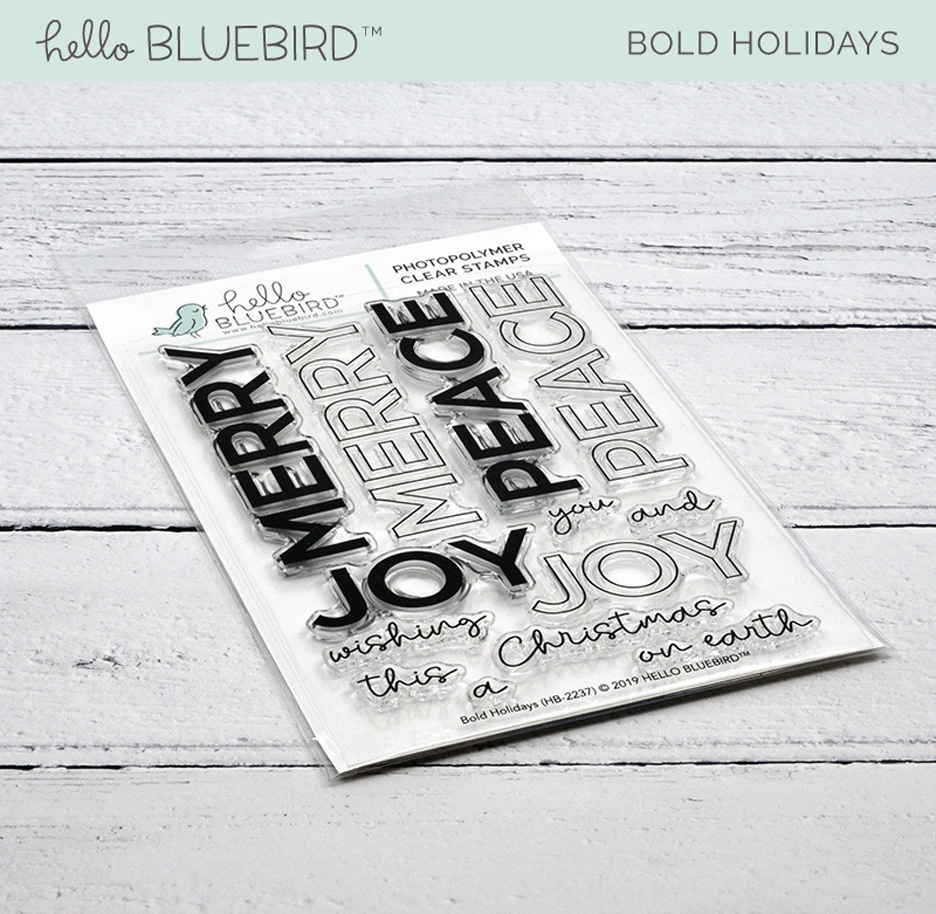 Hello Bluebird BOLD HOLIDAYS Clear Stamps hb2237  zoom image