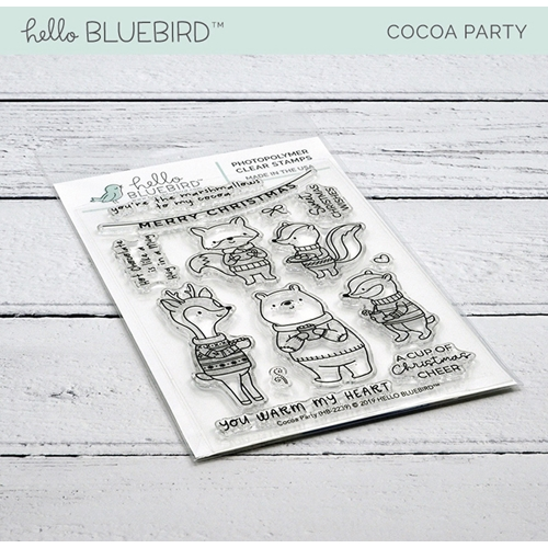 Hello Bluebird COCOA PARTY Clear Stamps hb2239  Preview Image