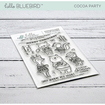 Hello Bluebird COCOA PARTY Clear Stamps hb2239