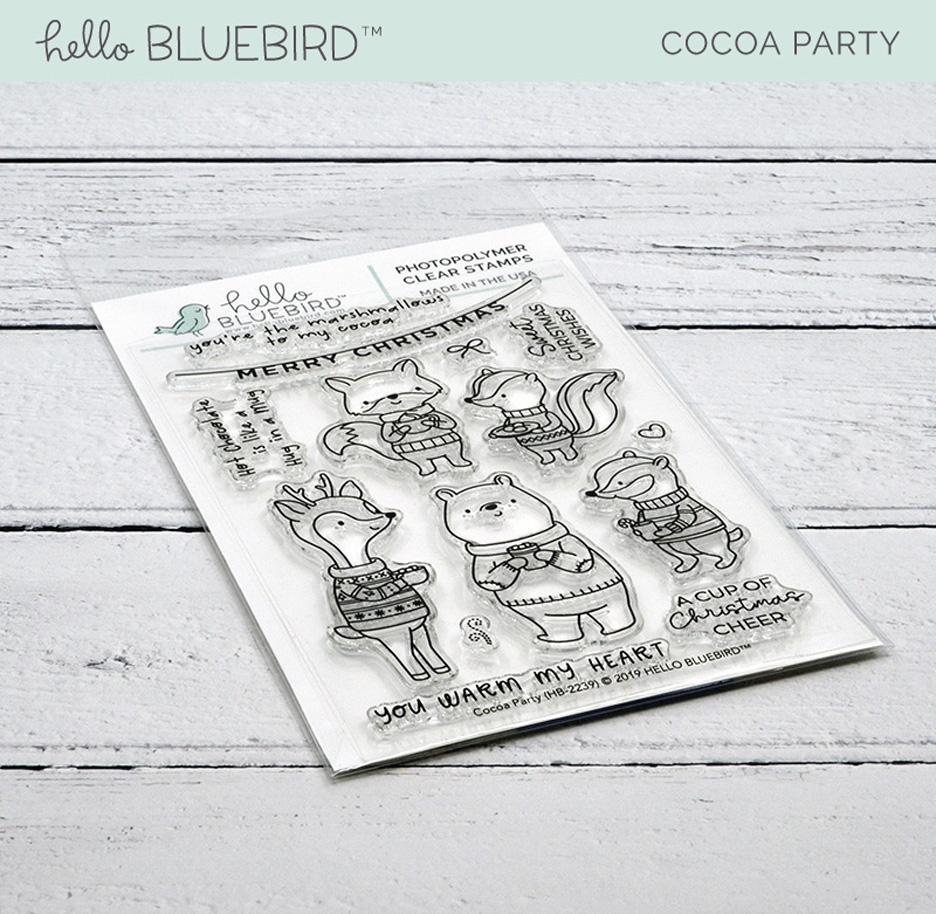 Hello Bluebird COCOA PARTY Clear Stamps hb2239  zoom image