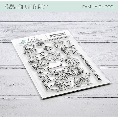 Hello Bluebird FAMILY PHOTO Clear Stamps hb2241 Preview Image