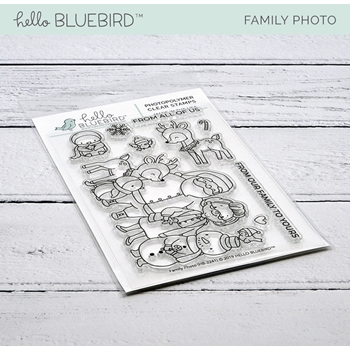 Hello Bluebird FAMILY PHOTO Clear Stamps hb2241