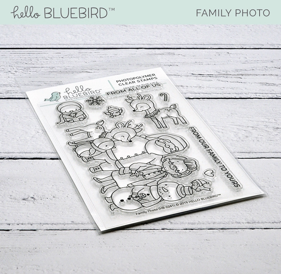 Hello Bluebird FAMILY PHOTO Clear Stamps hb2241 zoom image