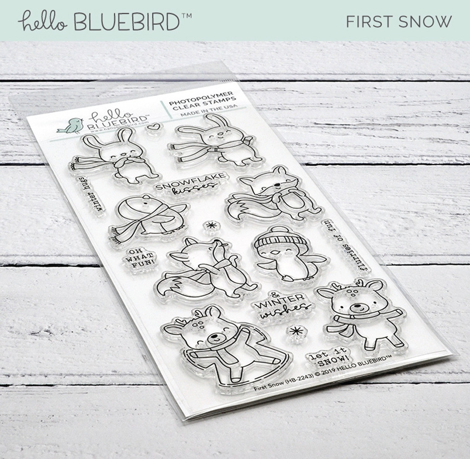 Hello Bluebird FIRST SNOW Clear Stamps hb2243  zoom image