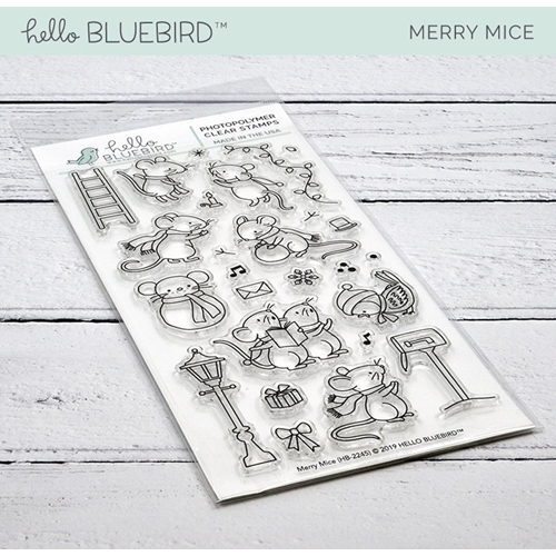 Hello Bluebird MERRY MICE Clear Stamps hb2245  Preview Image
