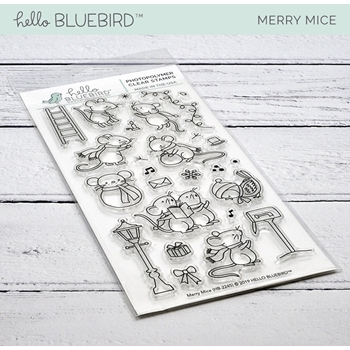 Hello Bluebird MERRY MICE Clear Stamps hb2245
