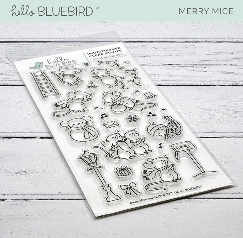 Hello Bluebird MERRY MICE Clear Stamps hb2245  zoom image