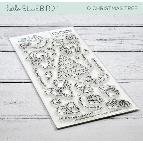 Hello Bluebird O CHRISTMAS TREE Clear Stamps hb2247  Preview Image