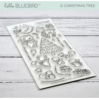 Hello Bluebird O CHRISTMAS TREE Clear Stamps hb2247