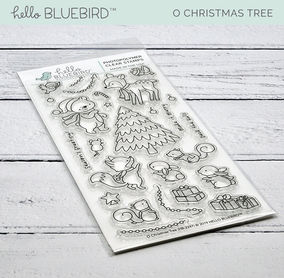 Hello Bluebird O CHRISTMAS TREE Clear Stamps hb2247  zoom image