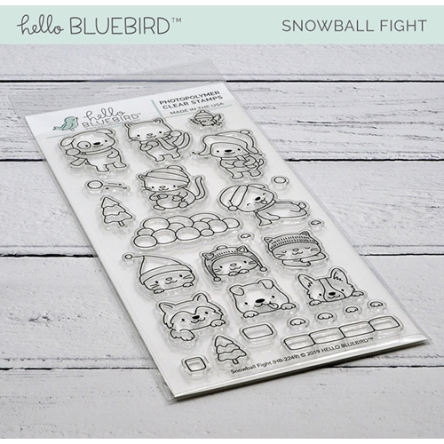 Hello Bluebird SNOWBALL FIGHT Clear Stamps hb2249  Preview Image