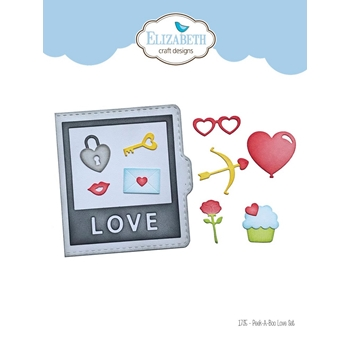 Elizabeth Craft Designs PEEK A BOO LOVE SET Craft Dies 1735