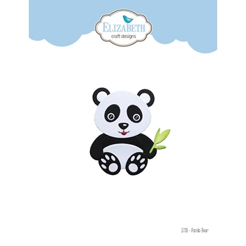 Elizabeth Craft Designs PANDA BEAR Craft Dies 1728
