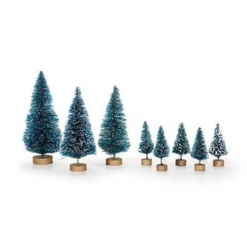 Darice SISAL BOTTLE BRUSH TREES 8 pack 161629