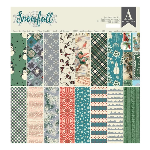 Authentique SNOWFALL 12 x 12 Collection Kit snf011 Preview Image