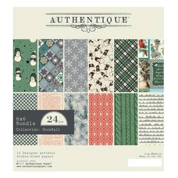 Authentique 6 x 6 SNOWFALL Paper Pad snf010