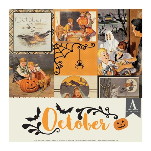 Authentique OCTOBER 12 x 12 Paper Pack cal058 Preview Image