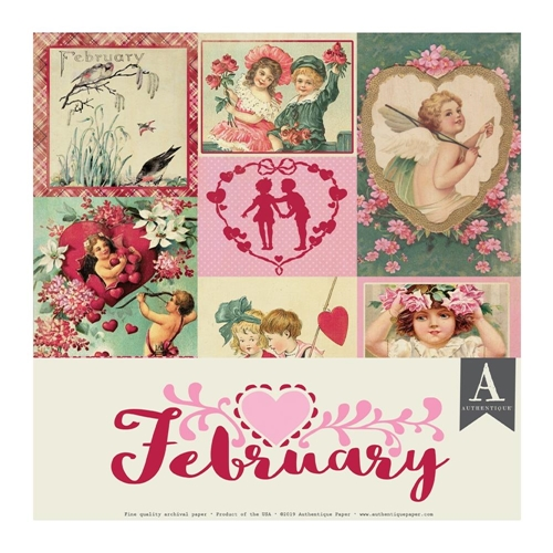 Authentique FEBRUARY 12 x 12 Paper Pack cal050 Preview Image