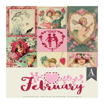 Authentique FEBRUARY 12 x 12 Paper Pack cal050