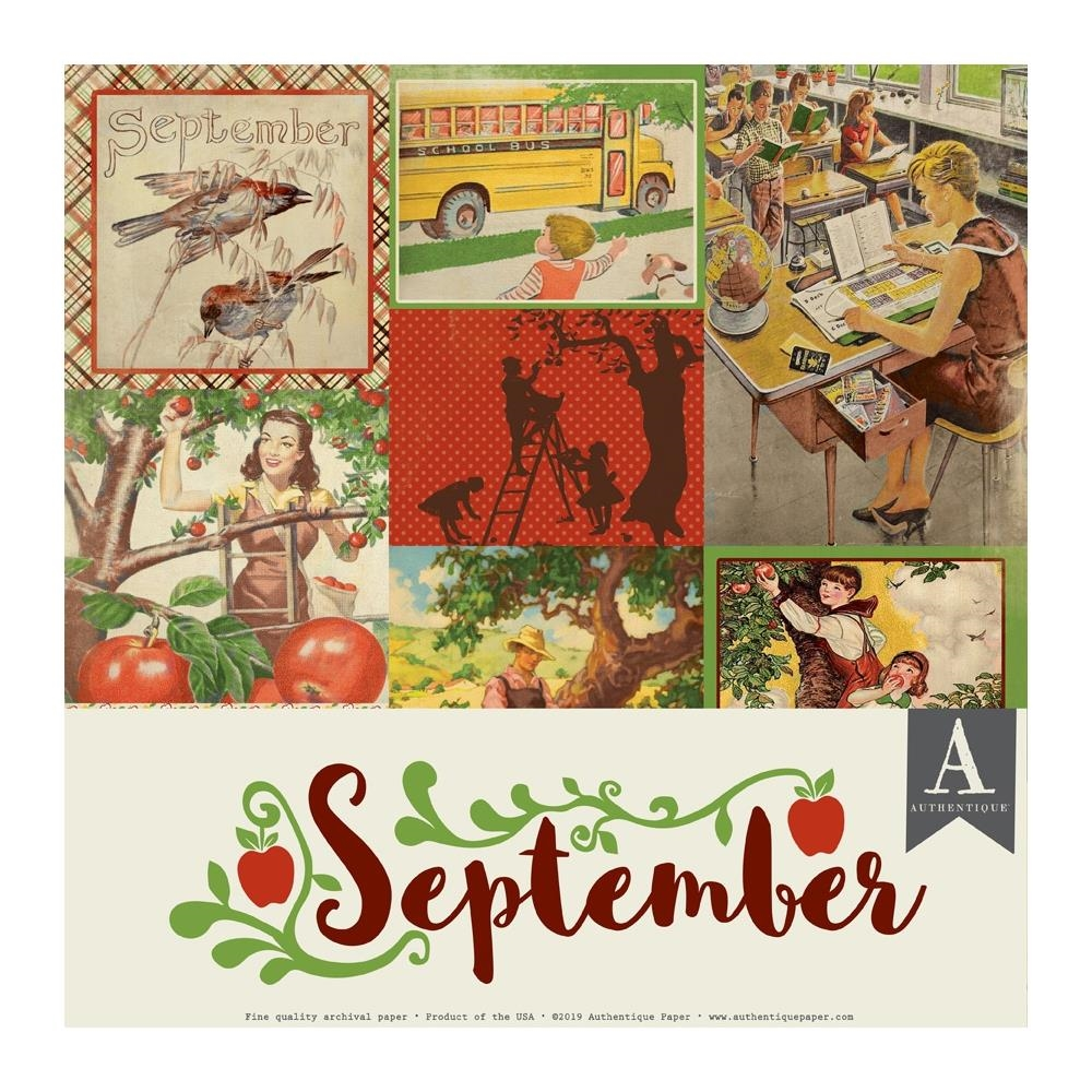 Authentique SEPTEMBER 12 x 12 Paper Pack cal057 zoom image