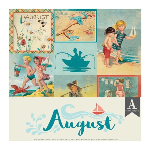 Authentique AUGUST 12 x 12 Paper Pack cal056 Preview Image