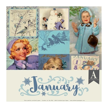 Authentique JANUARY 12 x 12 Paper Pack cal049