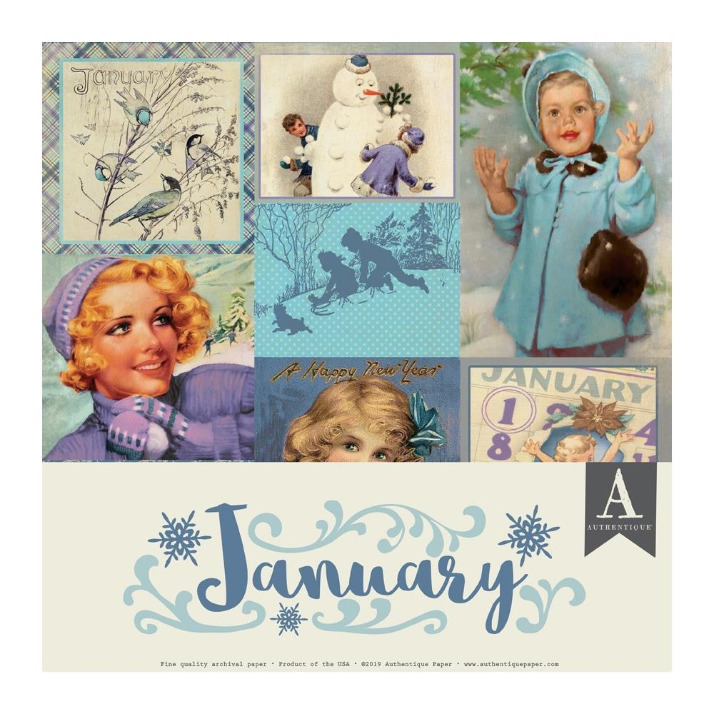 Authentique JANUARY 12 x 12 Paper Pack cal049* zoom image