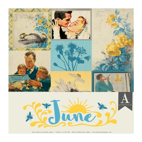 Authentique JUNE 12 x 12 Paper Pack cal054 Preview Image