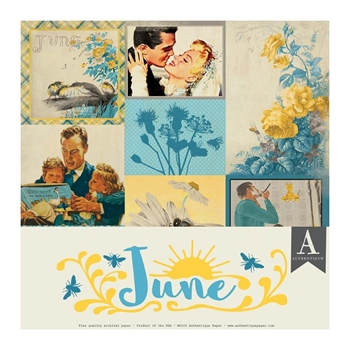 Authentique JUNE 12 x 12 Paper Pack cal054