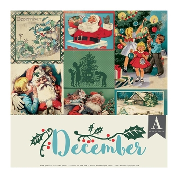 Authentique DECEMBER 12 x 12 Paper Pack cal060