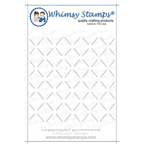 Whimsy Stamps LATTICE BACKGROUND Cling Stamp DDB0002 Preview Image