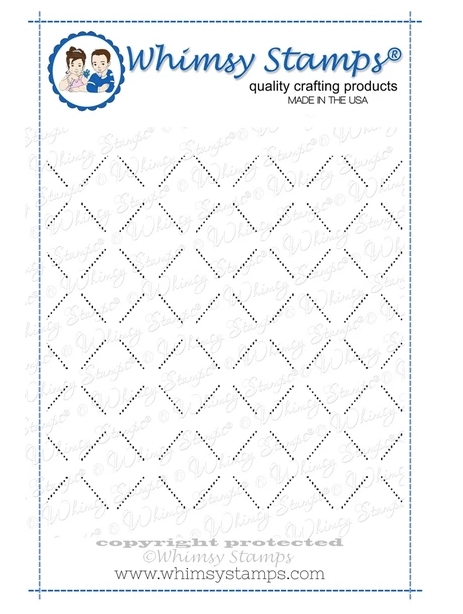 Whimsy Stamps LATTICE BACKGROUND Cling Stamp DDB0002 zoom image