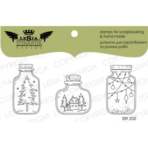 Lesia Zgharda WINTER IN JAR Clear Stamps sr202 Preview Image