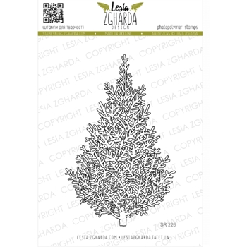 Lesia Zgharda CHRISTMAS TREE Clear Stamp sr226