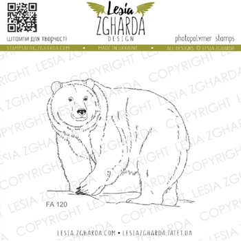 Lesia Zgharda POLAR BEAR Clear Stamp fa120