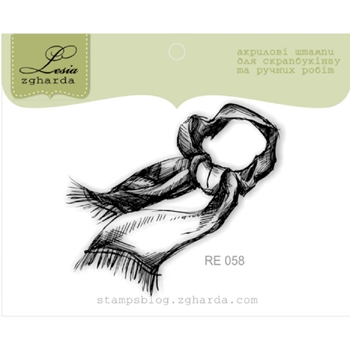 Lesia Zgharda SCARF Clear Stamp re058