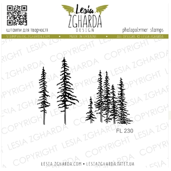 Lesia Zgharda CARPATHIAN PINES Clear Stamps fl230