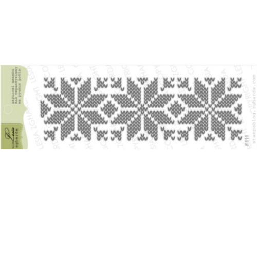 Lesia Zgharda KNITTED TRACERY Clear Stamp f111 Preview Image