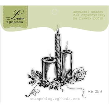 Lesia Zgharda CANDLES Clear Stamp re059