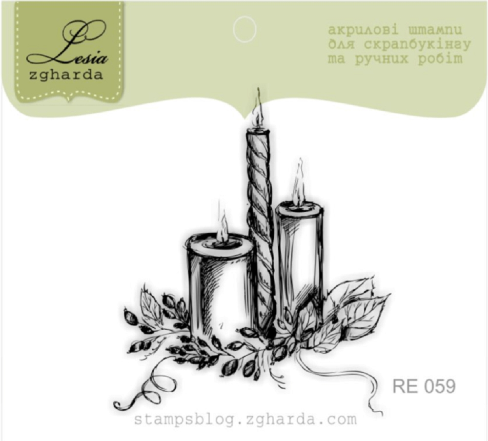 Lesia Zgharda CANDLES Clear Stamp re059 zoom image