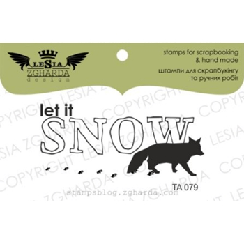 Lesia Zgharda LET IT SNOW Clear Stamp ta079