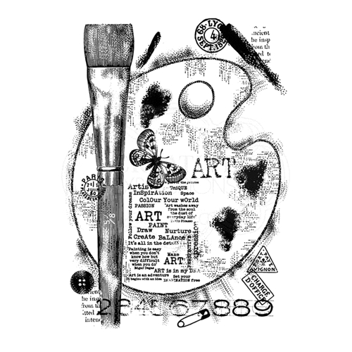 Woodware Craft Collection ART PALETTE Clear Stamp frs783 Preview Image