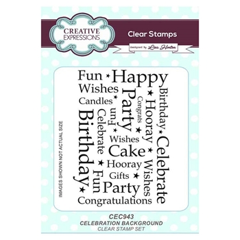 Creative Expressions CELEBRATION BACKGROUND Clear Stamps cec943