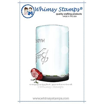 Whimsy Stamps MASON JAR Rubber Cling Stamp BS1000