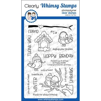 Whimsy Stamps TWEETIE PIE Clear Stamps CWSD291