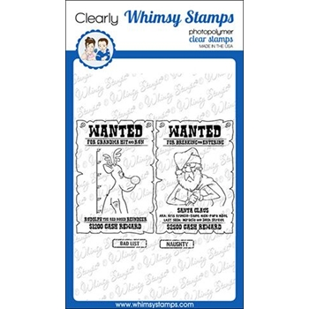 Whimsy Stamps CHRISTMAS CONVICTS Clear Stamps CWSD292