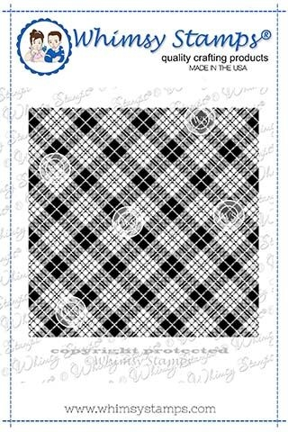 Whimsy Stamps TARTAN Background Cling Stamp DDB0037 zoom image