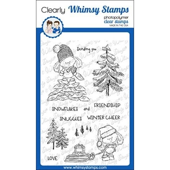 Whimsy Stamps BUNNY DELIVERY Clear Stamps CWSD293