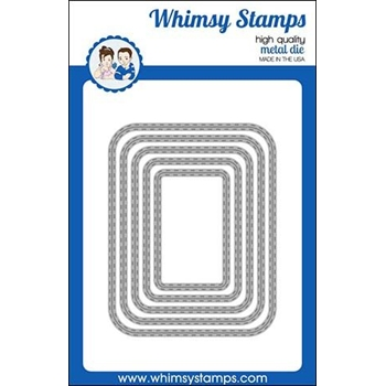 Whimsy Stamps ROUNDED RECTANGLES Dies WSD397*
