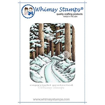 Whimsy Stamps WINTER WOODS Rubber Cling Stamp DA1131